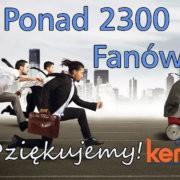 Dziękujemy! Mamy już ponad 2300 FANÓW!