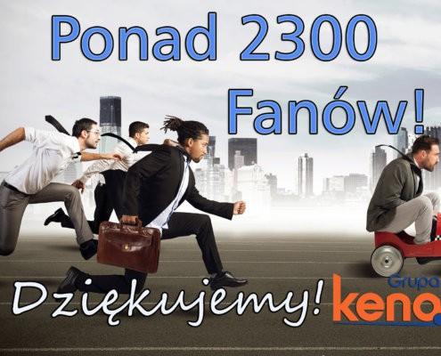 2300 FANOW FB 495x400 - Mamy już ponad 1 500 Fanów!