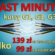SEP LAST MINUTE 12 2018 180x180 - Nowy kurs na uprawnienia G1, G2 i G3 już od 99 zł - 11.01.2019!