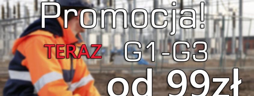 Nowy kurs na uprawnienia G1, G2 i G3 już od 99 zł - 22.02.2019!