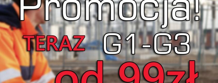 Pierwszy kurs w 2020 na uprawnienia G1, G2 i G3 już od 99zł - 28.01.2020!