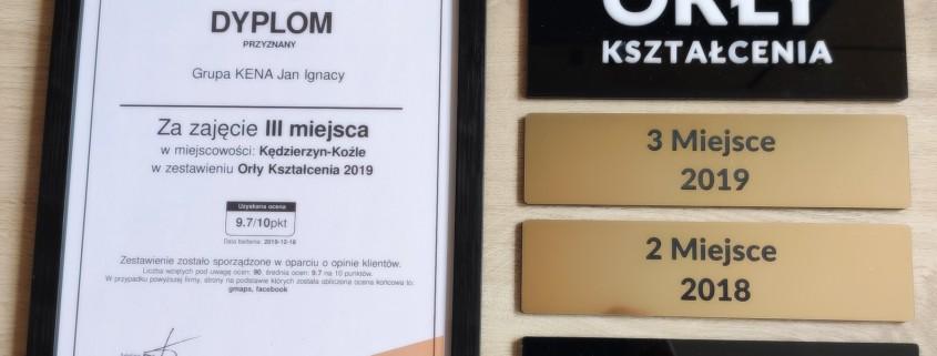 Orly 3 2 845x321 - Grupa KENA laureatem Orłów Kształcenia 2019 z oceną 9,7 pkt. na 10 pkt!